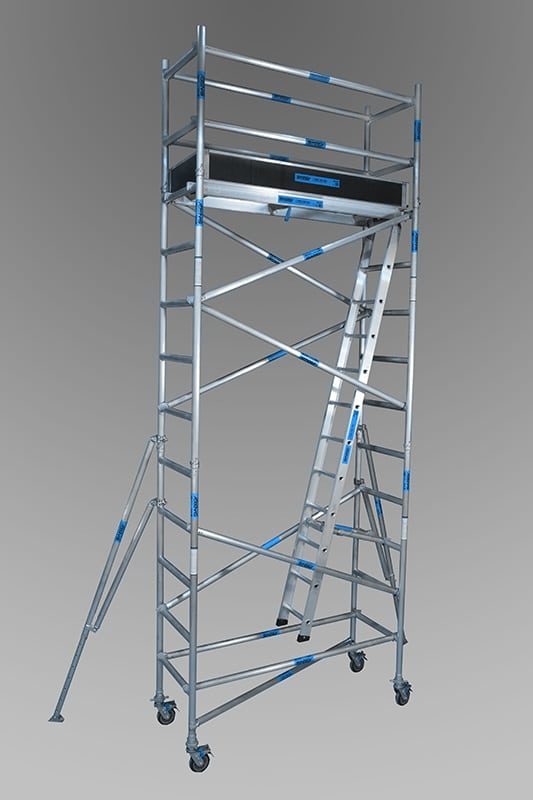 0.74m x 2.5m x 4.2m aluminium mobile towers from andersons scaffolding