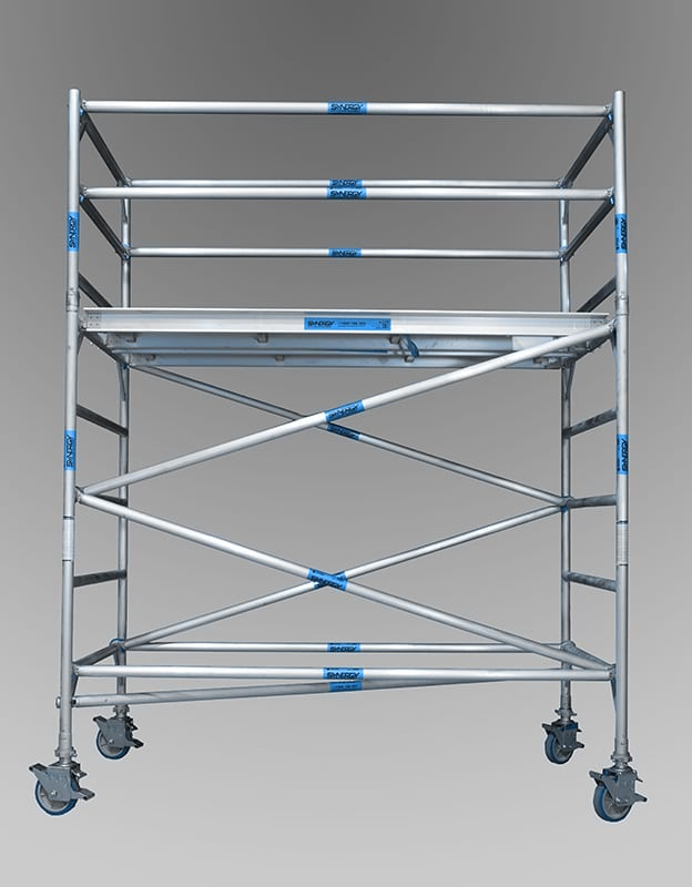 1.3m x 2.5m x 2.2m aluminium mobile towers from andersons scaffolding