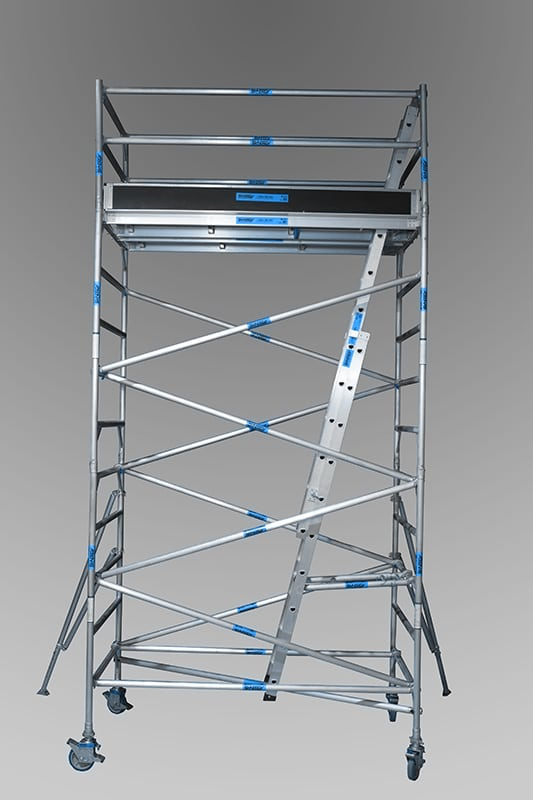 1.3m x 2.5m x 4.2m (slt) aluminium mobile towers from andersons scaffolding